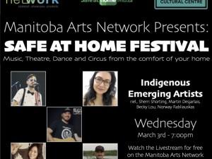 Safe at Home MB Festival | Indigenous Emerging Artists