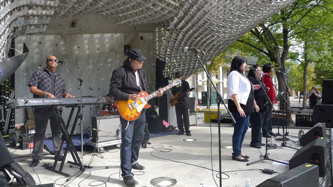 Indian City performing for Aboriginal Music Live at The Cube, Sep 20
