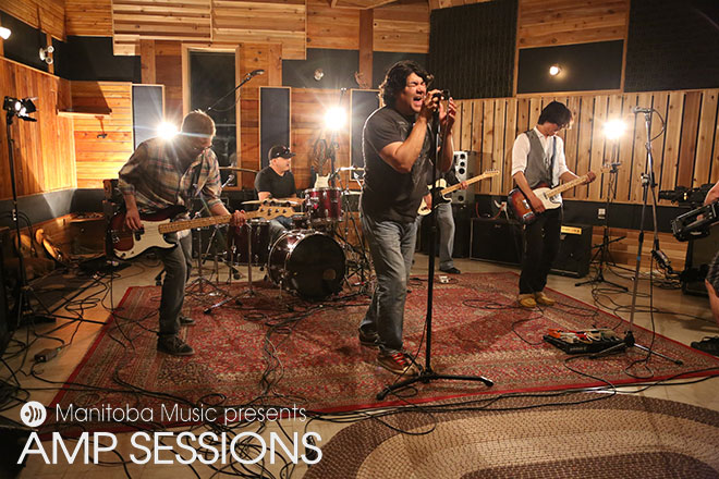 Dee Erin Band at the AMP Sessions shoot at Bedside Studios