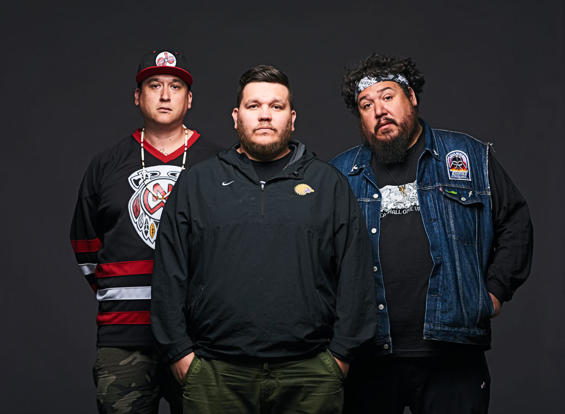 A Tribe Called Red | From left: DJ NDN, 2oolman, Bear Witness