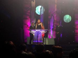 Ali Fontaine accepts her APCMA (Photo: Manitoba Film & Music)