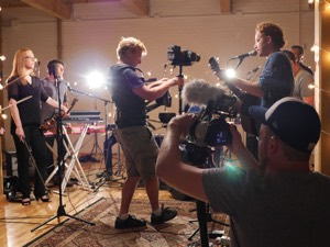Filming Royal Canoe's Loft Session