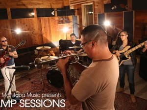 Chuck Copenace and his crew at the AMP Sessions shoot at Bedside Studios