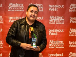 William Prince at the WCMAs (Photo courtesy of BreakOut West)