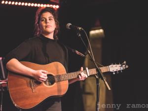 Erika Fowler at New Music Night, Feb 1 2017 (Photo: Jenny Ramone)