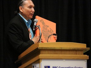 NCI FM's David McLeod at the 2016 Indigenous Music Conference (Photo: Doug Thomas / Courtesy of Manito Ahbee)