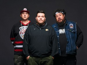 A Tribe Called Red from left: DJ NDN, 2oolman, Bear Witness (Photo: Matt Barnes)